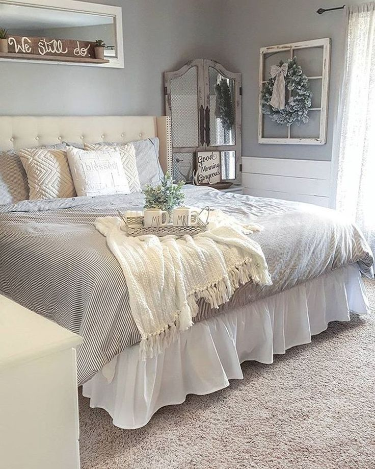 48 gorgeous farmhouse master bedroom decorating ideas - Decorating Ideas Master Bedroom