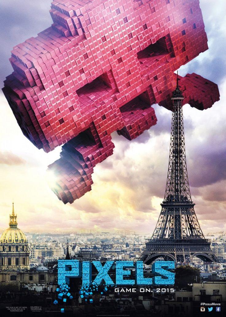 В картине «Пиксели» в Нью-Йорк вторгаются пиксельные персонажи из видеоигр Space Invaders, Pac-Man и Frogger и начинают захват города. Инопланетяне, в лице Q*bert, Donkey Kong and Dig Dug вторгаются на землю с пиксельным оружием массового уничтожения.  Главные герои — Адам Сэндлер, Питер Динклейдж и Мишель Монаган объединяются в тройку как бывалые геймеры, чтобы использовать свои игровые навыки, и спасти мир. Подробнее http://www.nowzone.ru/trejler-filma-pikseli/