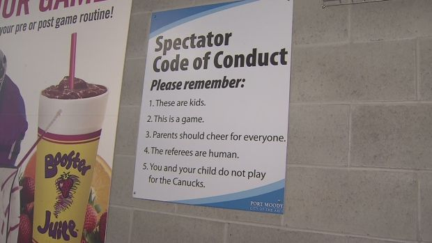 Spectator code of conduct - hockey rules