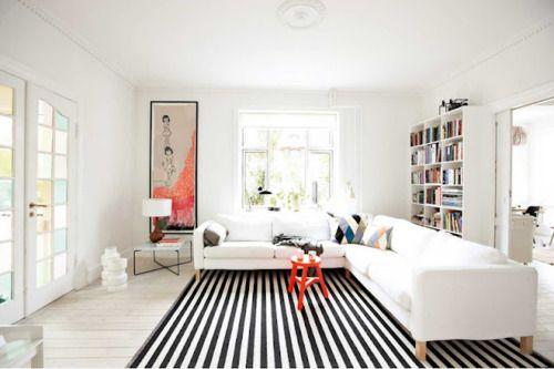 Stripe rug.
