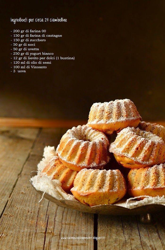 Cucina Scacciapensieri: Ciambelline con farina di castagne, noci e uvetta al Vin Santo