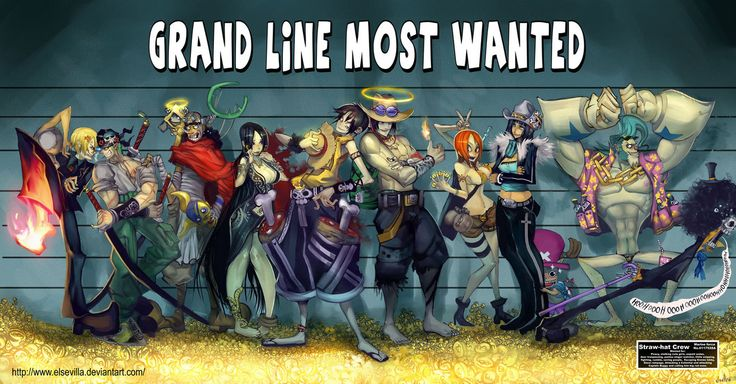Grand line most wanted fanart one piece fanart - One piece equipage luffy ...