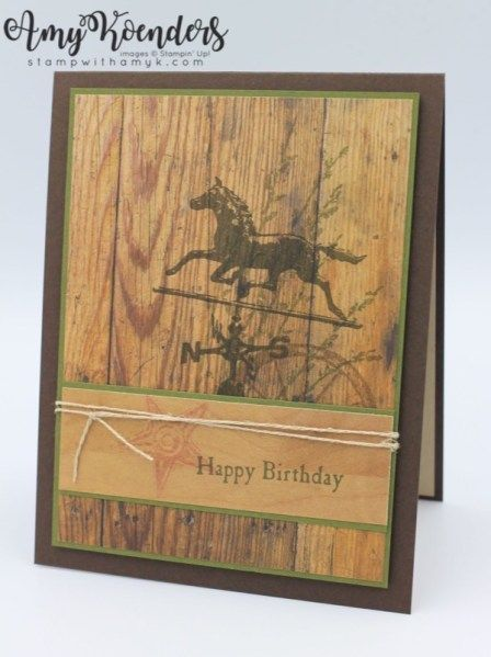 Stampin Up Country Road For Stamp Ink Paper With Amy K