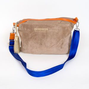 Sac Bensimon Mat & shiny line- Mini bag beige