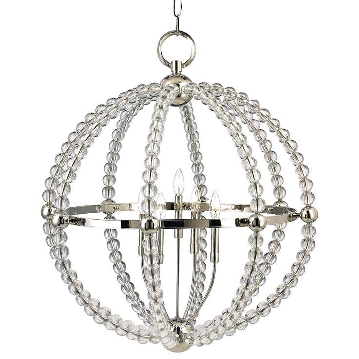 Hudson Valley Lighting Inc: Hudson Valley Danville Sphere Chandelier-Polished Nickel