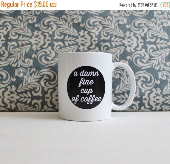 black friday sale // A Damn Fine Cup of Coffee - Twin Peaks tv Show Pop Culture - coffee cup, mug, pencil holder, catch-all - Ready to Ship by TheSilverSpider on Etsy https://www.etsy.com/listing/185699751/black-friday-sale-a-damn-fine-cup-of