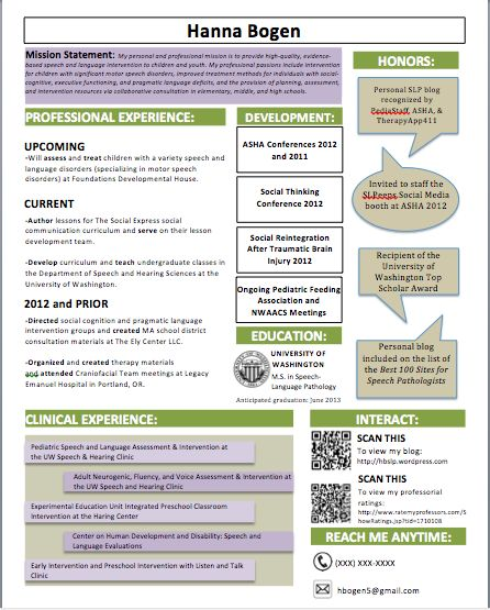69 best SLP Career images on Pinterest Language, Army life and - slp resume examples
