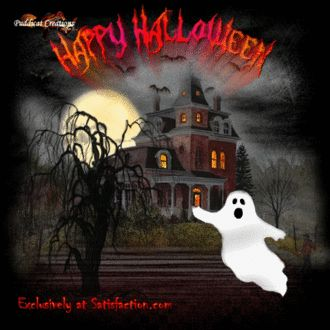 Happy Halloween animated gif halloween ghost happy halloween haunted house halloween pics