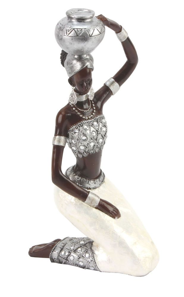 Juliana Ebony Effect Crystal African Masai Figurine Gift Ornament Kneeling 26cm in Collectables, Decorative Ornaments/ Plates, Figurines/ Figures/ Groups | eBay