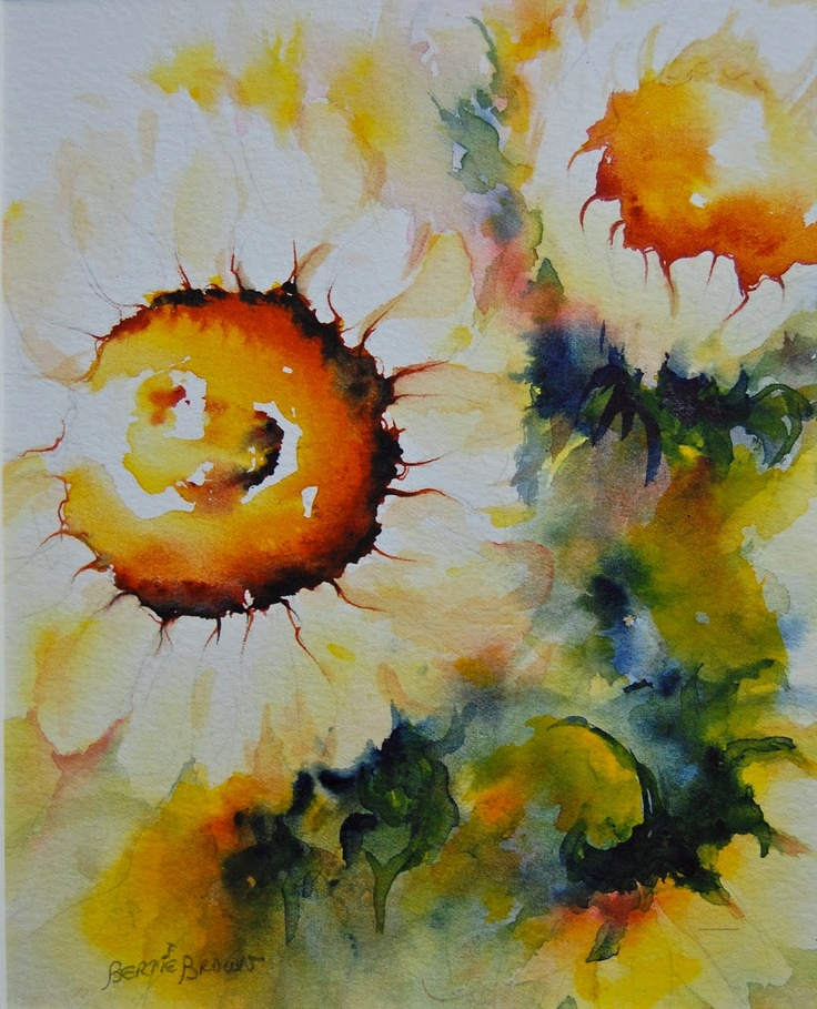 Impressionist Watercolor - Flower