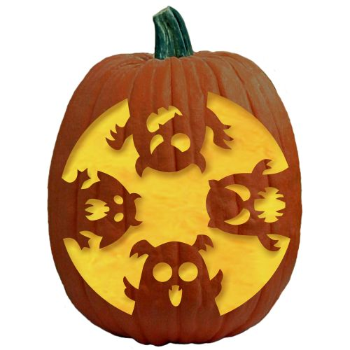 disturbed logo pumpkin carving patterns - 500×500