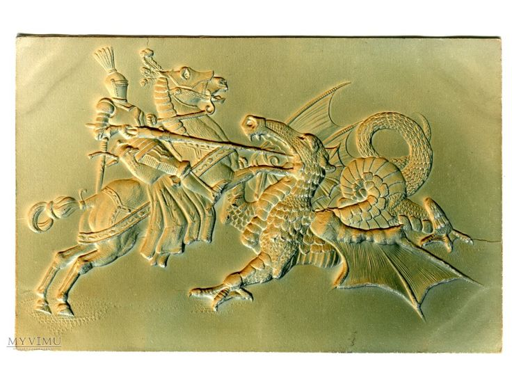 1903 Smok i Rycerz walczący...  w Pocztówki Artystyczne w MyViMu.com