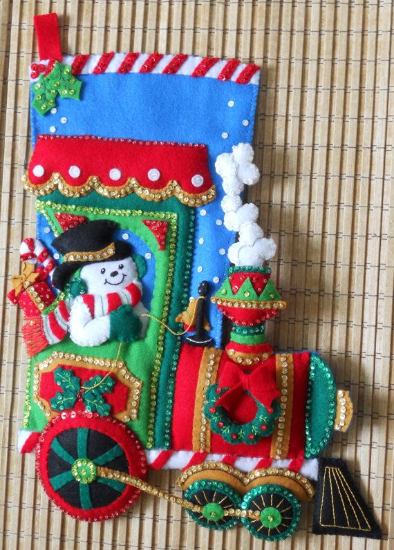 feltworks stocking kits | Bucilla Christmas Stocking Candy Express by HollyCreations on Etsy