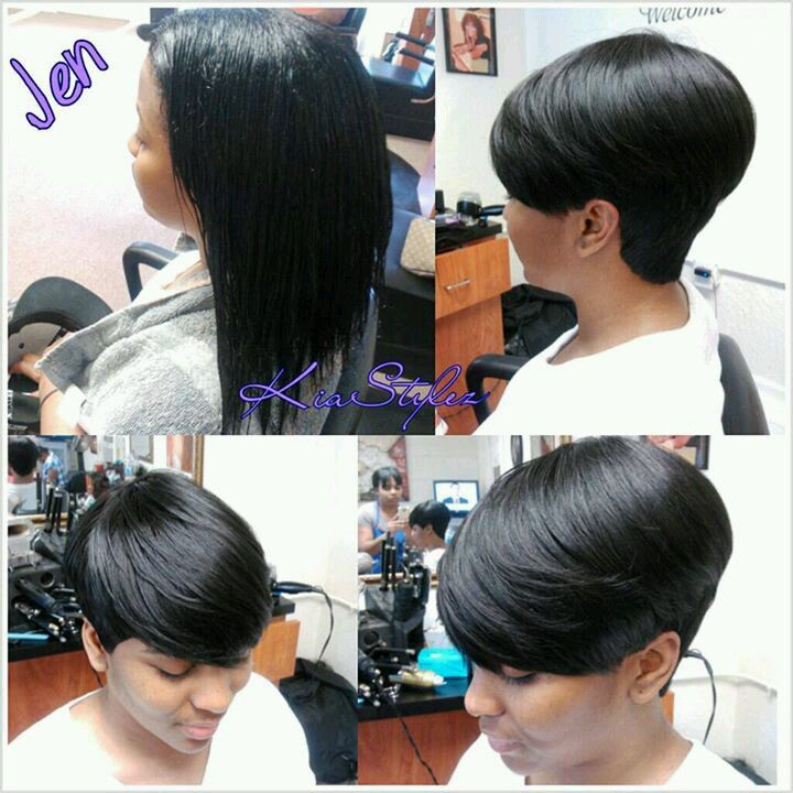 quick hairstyles Short weave
