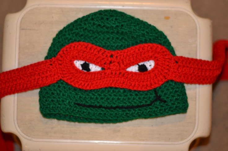 Ninja Turtle Character Hat Size Adult/Teen. $20.00, via Etsy.