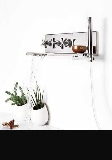 L`Eau Waterfall Bath Tap with Shower Head (37DD)
