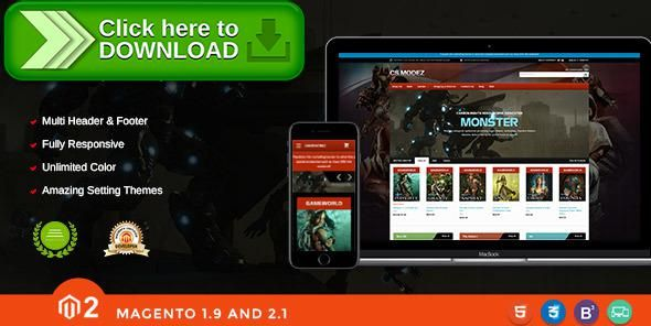 [ThemeForest]Free nulled download Game Store Responsive Magento Theme - Gameworld from http://zippyfile.download/f.php?id=13320 Tags: application mobile iphone ios, dark black glossy flat design, electronic appliance devices, elegant nice beautiful great, entertainment software apps, fast loading seo boost quick, game store, game store magento theme, gaming reviews rating best, hardware computer digital, high ranked quality best top, magento 2.1, Magento2, premium themes templ