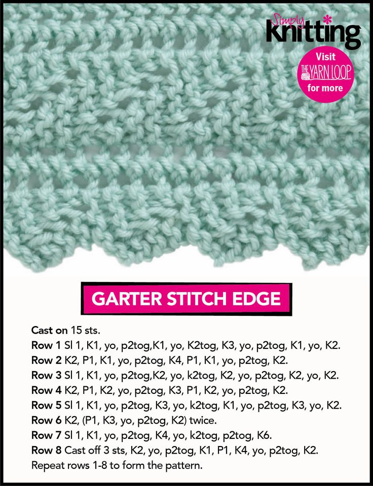 Knitting Edge Stitch Patterns : Best bind off cast on edges images pinterest