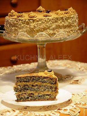 Tort makowo – kawowy