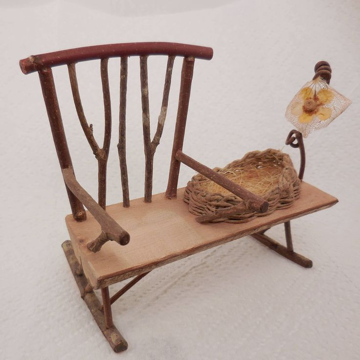 Fairy Baby Rocking Chair by TheWoodcarvingShop on Etsy https://www.etsy.com/listing/572470787/fairy-baby-rocking-chair