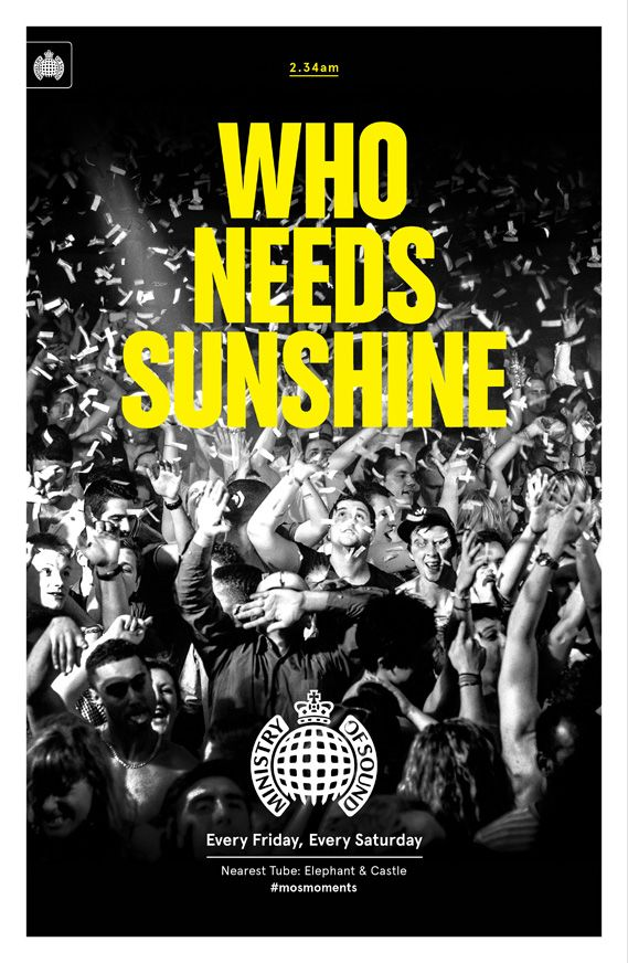 Creative agency Studio Output has designed a set of six promotional posters for nightclub Ministry of Sound that will be displayed at 100 London Underground stations.