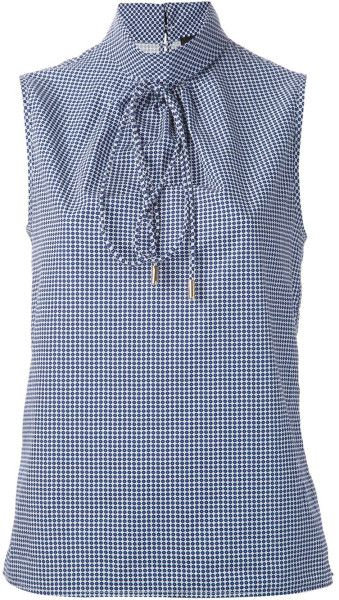 Dsquared2 Sleeveless Top in Blue | The House of Beccaria#