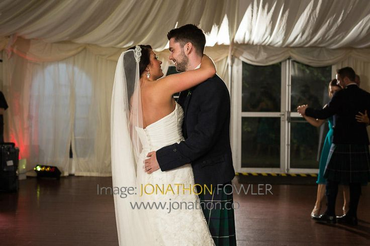 Glencorse House wedding photos - Lauren and Wayne - newly-weds dancing
