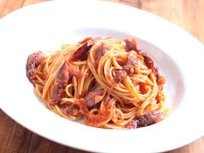 ホタルイカとトマトのパスタの作り方(レシピ)