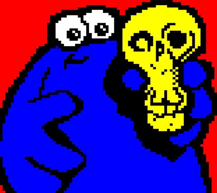 And here we'll cap off the Mistigram #TheTrapDoor series with one final @horsenburger #teletext screen a portrait of the cartoon's two main protagonists #Berk and #Boni released like all the rest in the recent MIST1017 artpack collection.