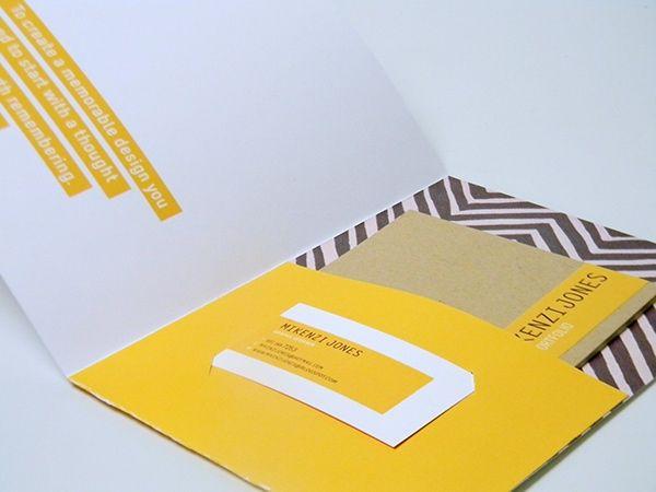 Self Promotion Piece Mini Portfolio Resume Candy Bar Business Cards Pocket Folder Design Folder Graphic Design Presentation Folder Design
