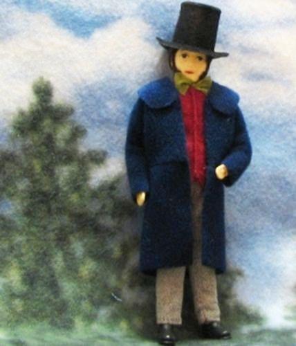 Dollhouse-Victorian-Man-Doll-Lord-Biedermeier-Dressed-Erna-Meyer-flexible-NEW