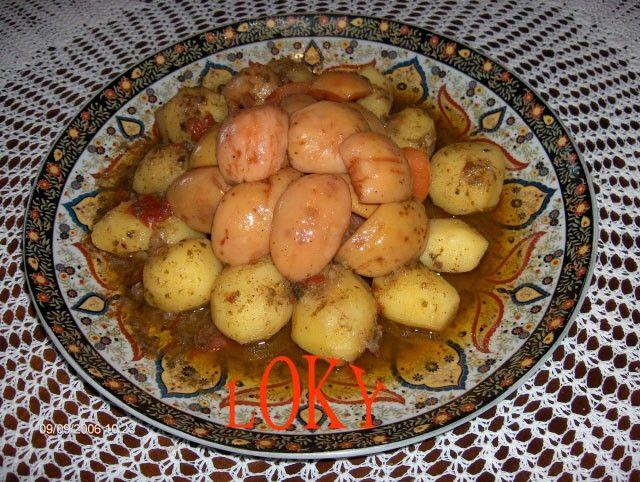 je poste cette recette qui est vraimant délicieuse, ce mariage si subtil du sucré/salé dans une cocotte minute on y dépose la viande : - un verre d'huile (de table, d'olive ou un mélange des 2) - un oignon émincé - 2 gouses d'aîl en purée - une tomate...