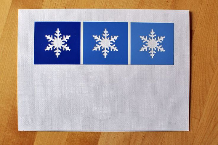 Very cute and easy winter paint chip card to make