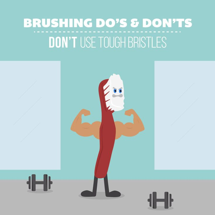 "BRUSHING TOO HARD or with tough bristles wears down teeth and gums! Make sure you buy toothbrushes that say ""soft"" on the box."