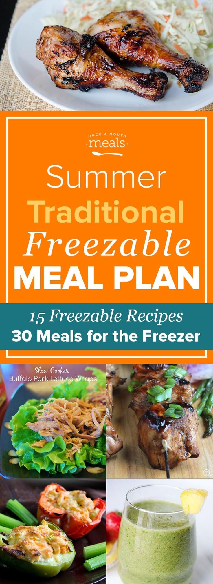With plenty of throw and go dinners for your grill and breakfasts and lunches for long days at the pool, you'll want to get our Summer Traditional Freezer Menu in your freezer ASAP.