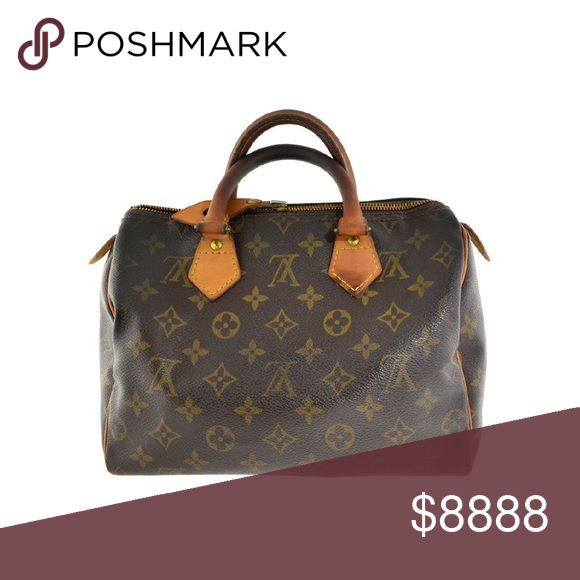 """Vintage Louis Vuitton Speedy 25 Vintage Louis Vuitton Speedy 25. Darkening of patina on handles, wear at corners and some staining of interior. Plenty of years left for this classic though! No trades. 10x7x8.5"""" Louis Vuitton Bags"""