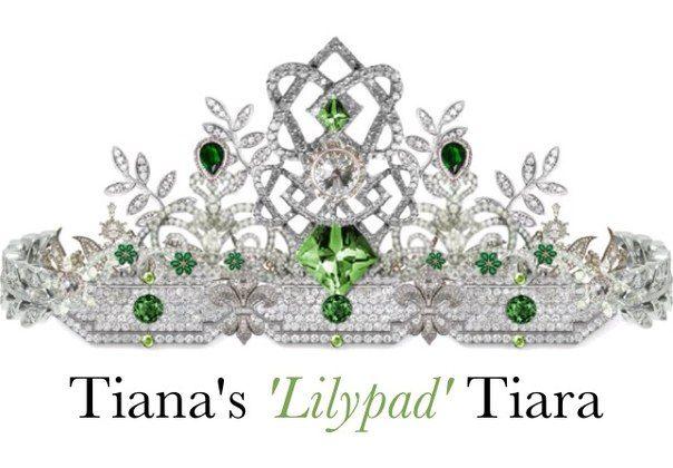 """Тиара """"Плавающий лист водяной лилии, кувшинки"""" принцессы Тианы"""