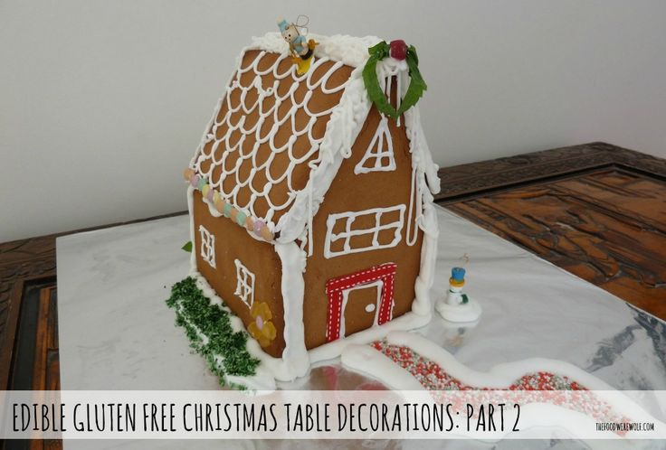 gluten free gingerbread house thefoodwerewolf.com #glutenfree #gingerbreadhouse #christmas