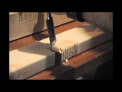 Cutting Support Notches for Farmhouse Bed Rails