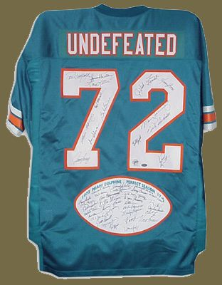 1972 MIAMI DOLPHINS PHOTOS | Official Miami Dolphins Jersey autographed by 1972 Miami Dolphins