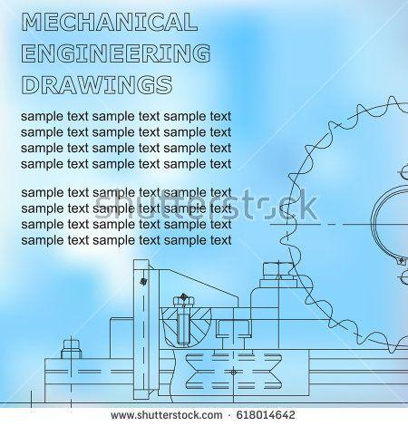 Mechanical engineering drawings on a white and blue background. Blueprint  #bubushonok #art #bubushonokart #design #vector #shutterstock  #technical #engineering #drawing #blueprint   #technology #mechanism #draw #industry #construction #cad