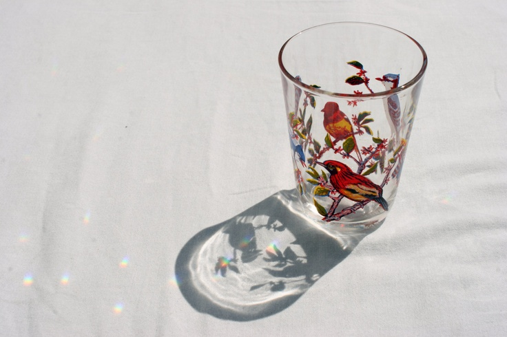 Vintage Glass with Bird Details by OhHazelVintage on Etsy, £2.99