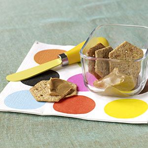 8 Healthy Office Snacks | Whole Wheat Crackers and Peanut Butter | CookingLight.com