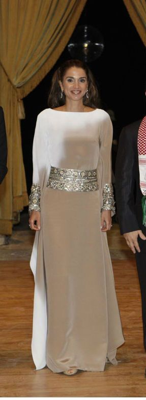 Queen Rania of Jordon. She looks great in Stephane Rolland