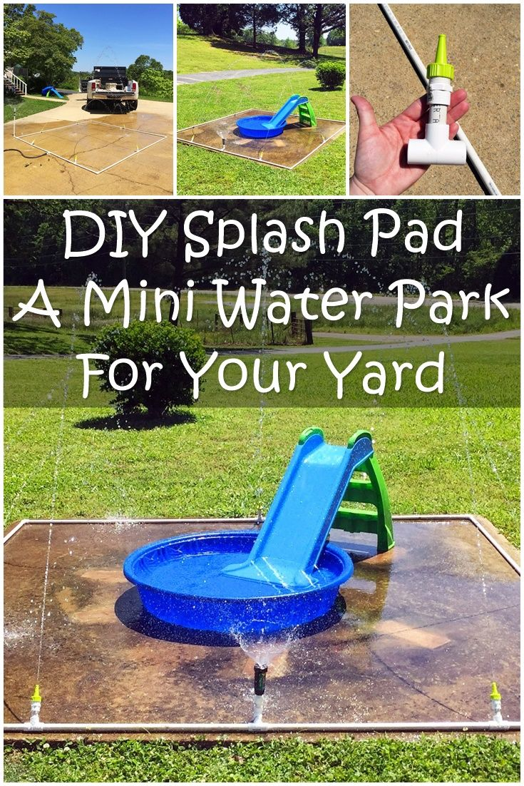 diy splash pad a mini water park for your yard this is a really