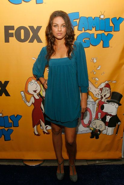 LOS ANGELES, CA - OCTOBER 29: Actress Mila Kunis attends the Family Guy's 100th Episode party held at Social on October 29,2007 in Los Angeles California. (Photo by Mark Davis/Getty Images)