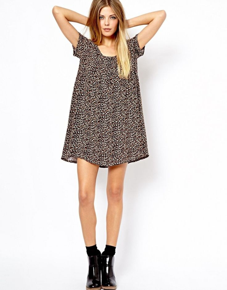 Asos American Apparel Leopard Dress