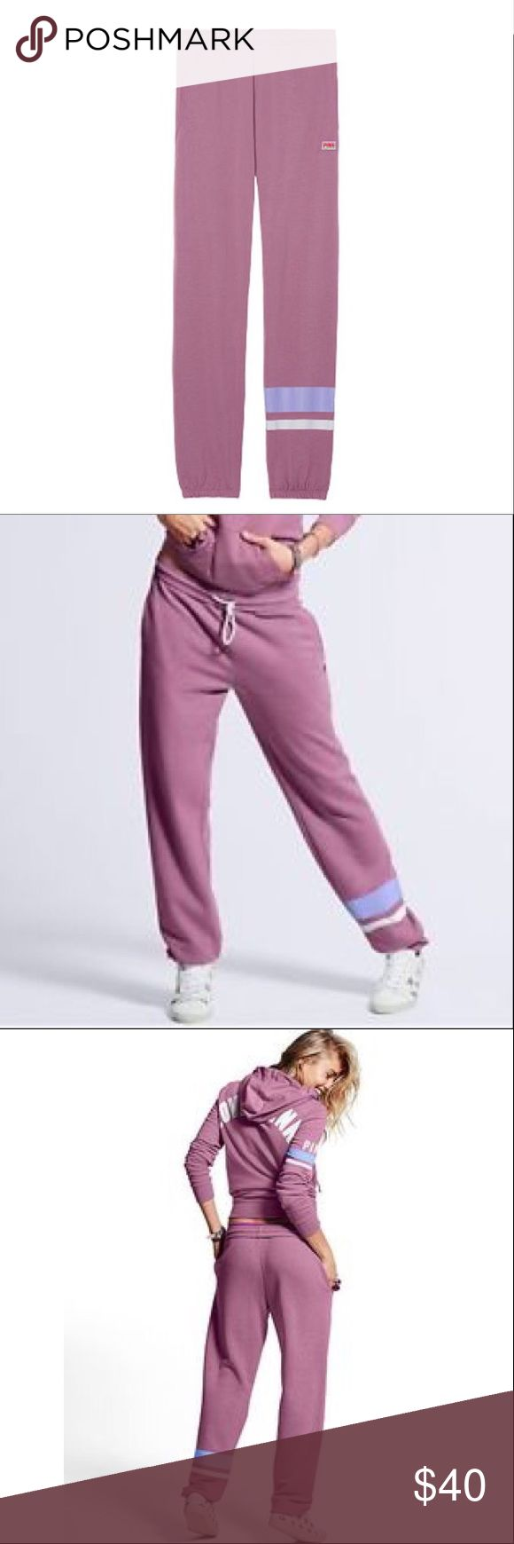 Victoria's Secret PINK Campus Pants Large NWT New in Online Packaging, Size Large, Violet PINK Victoria's Secret Pants Track Pants & Joggers