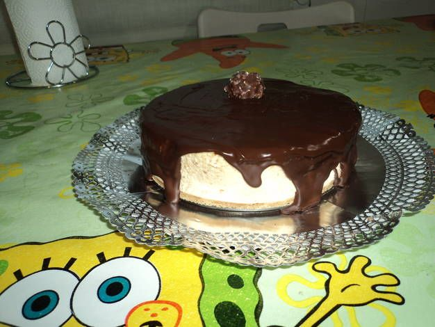 Tarta mousse de turrón y chocolate