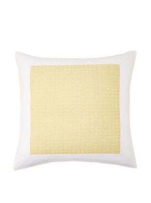 80% OFF Vera Wang Modern Ikat Sham, White/Yellow, Euro